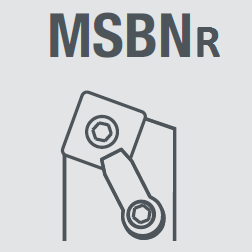 Державка токарная правая MSBNR2525M12